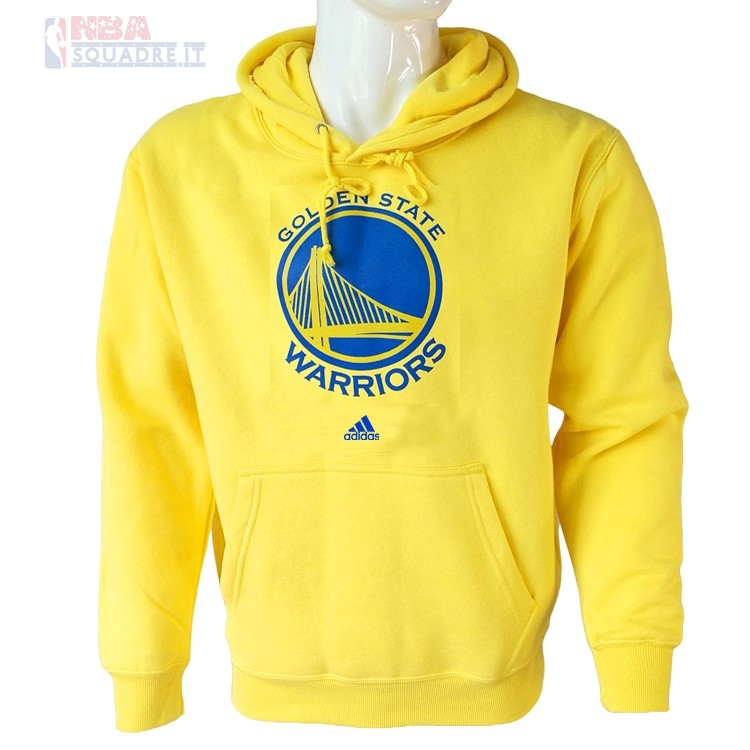 Felpe Con Cappuccio NBA Golden State Warriors Giallo City Di Buona Qualità