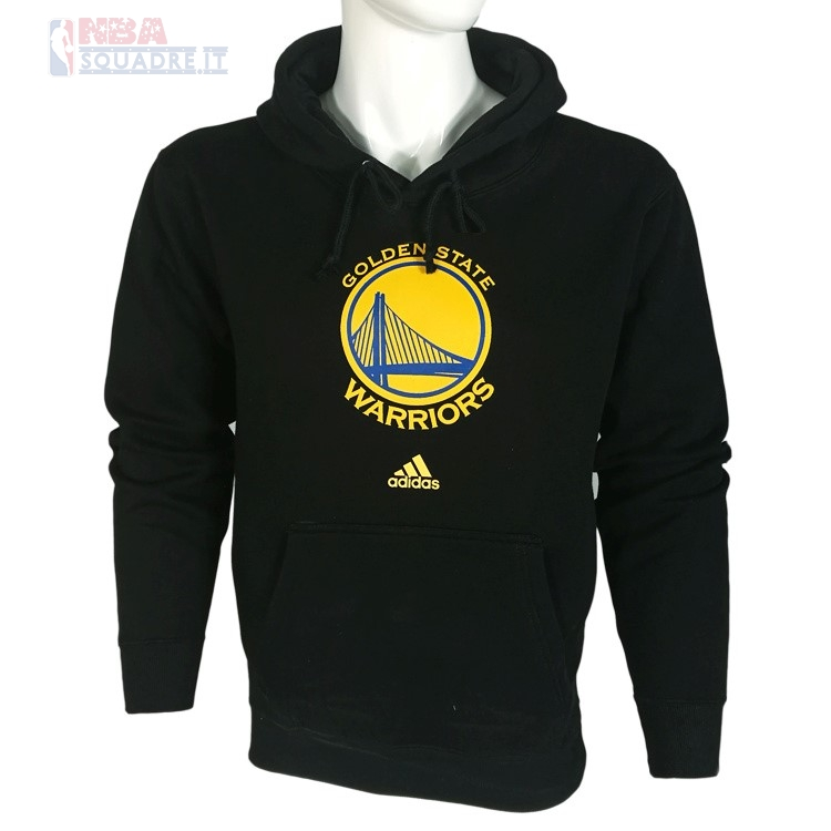 Felpe Con Cappuccio NBA Golden State Warriors Nero City Di Buona Qualità