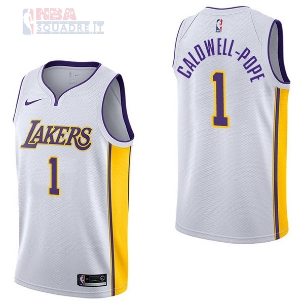 Maglia NBA Nike Los Angeles Lakers #1 Kentavious Caldwell Pope Bianco Association Di Buona Qualità