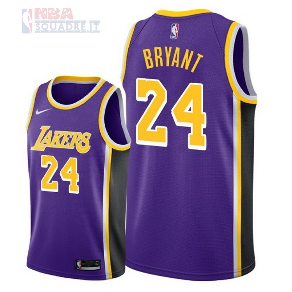 Maglia NBA Nike Los Angeles Lakers #24 Kobe Bryant Porpora Statement 2018-19 Di Buona Qualità