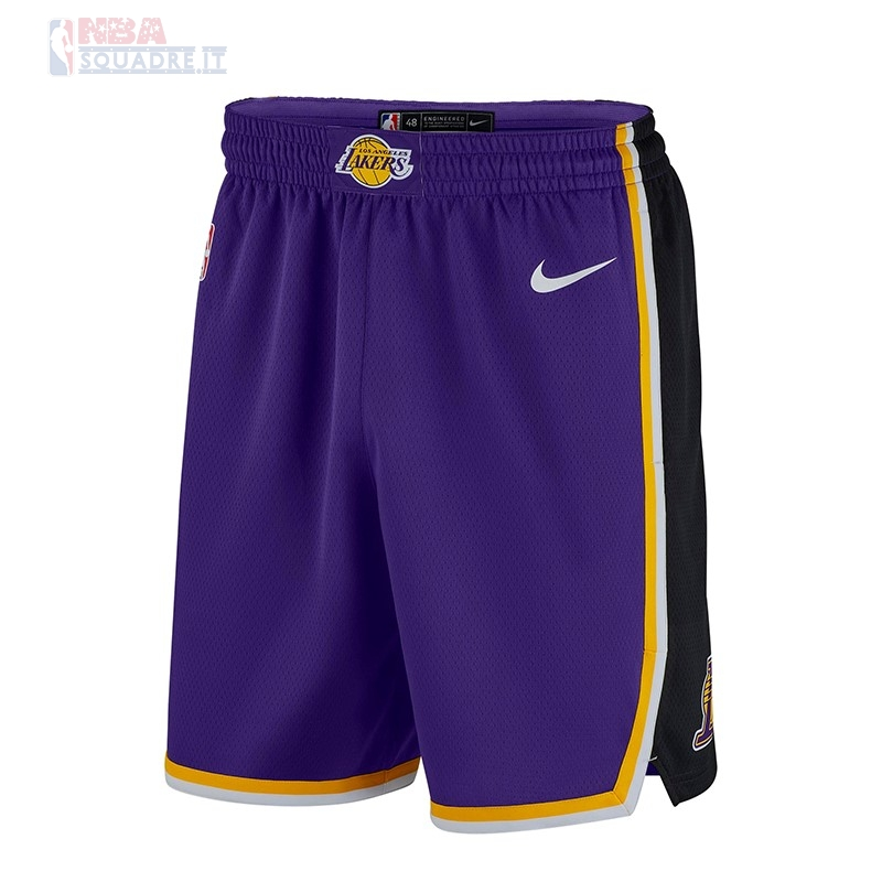 Pantaloni Basket Los Angeles Lakers Nike Porpora 2018-19 Di Buona Qualità