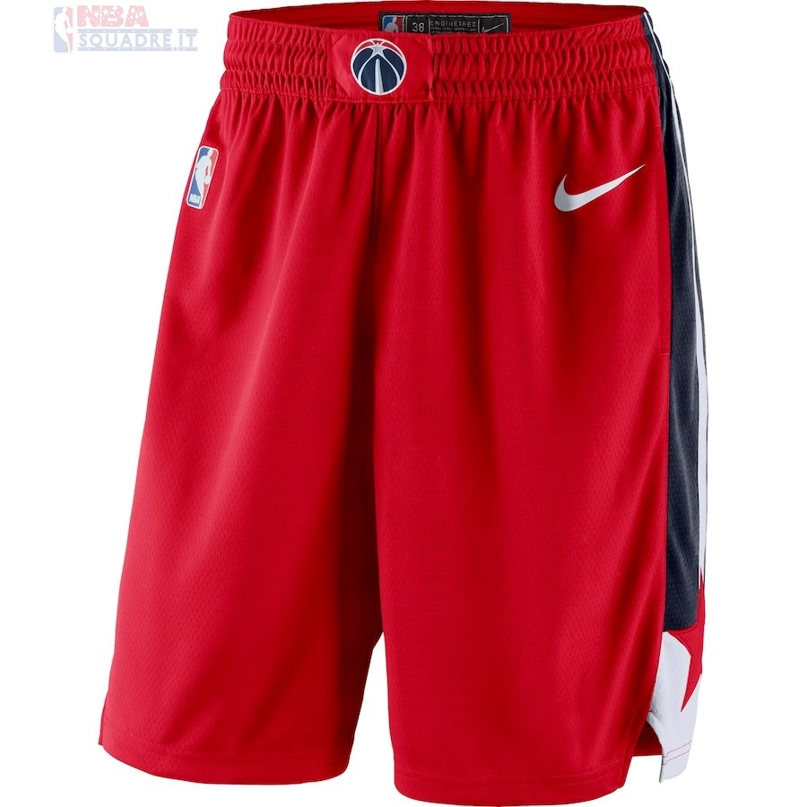 Pantaloni Basket Washington Wizards Nike Rosso Icon 2018 Di Buona Qualità