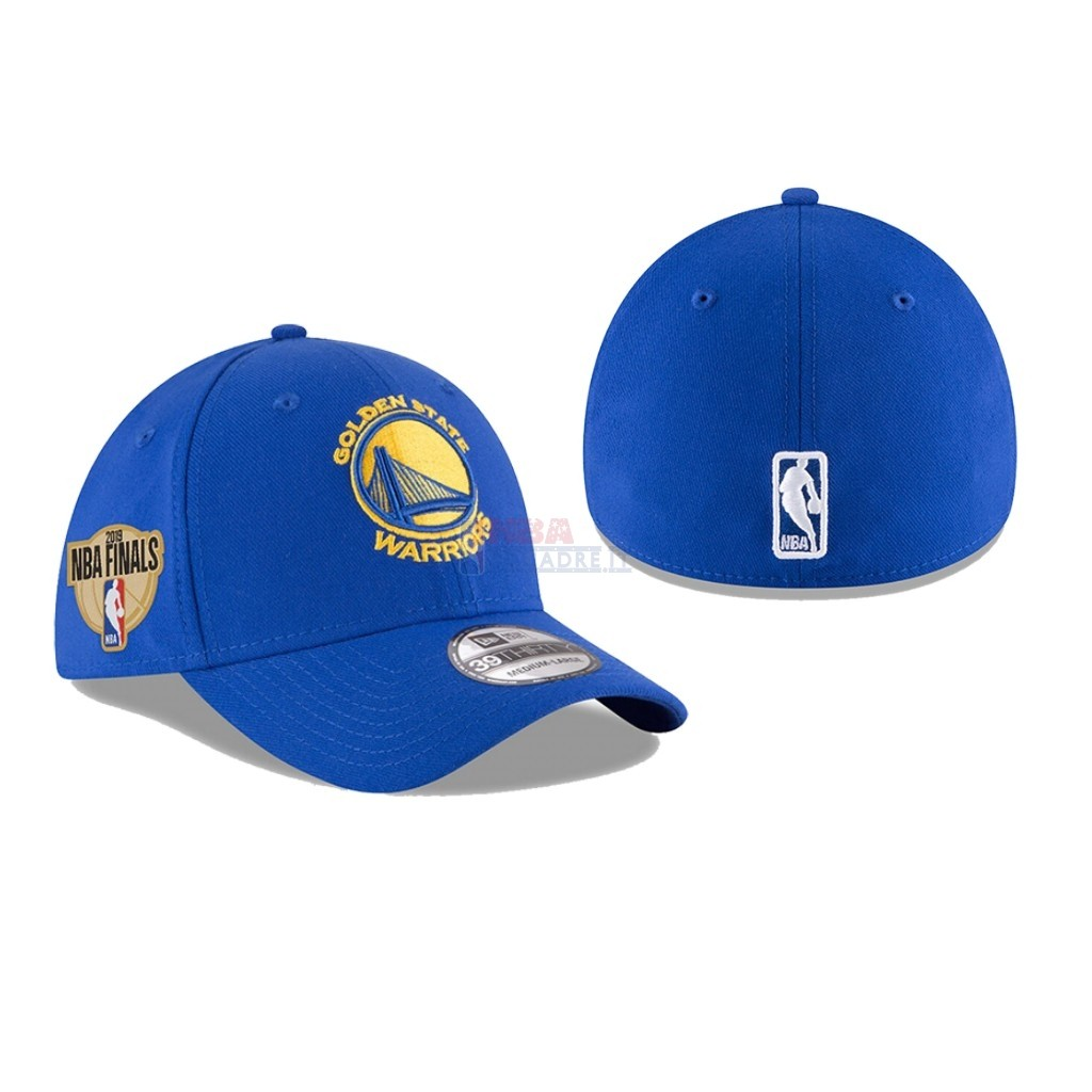 Cappelli 2019 NBA Finals Golden State Warriors Blu 01 Di Buona Qualità