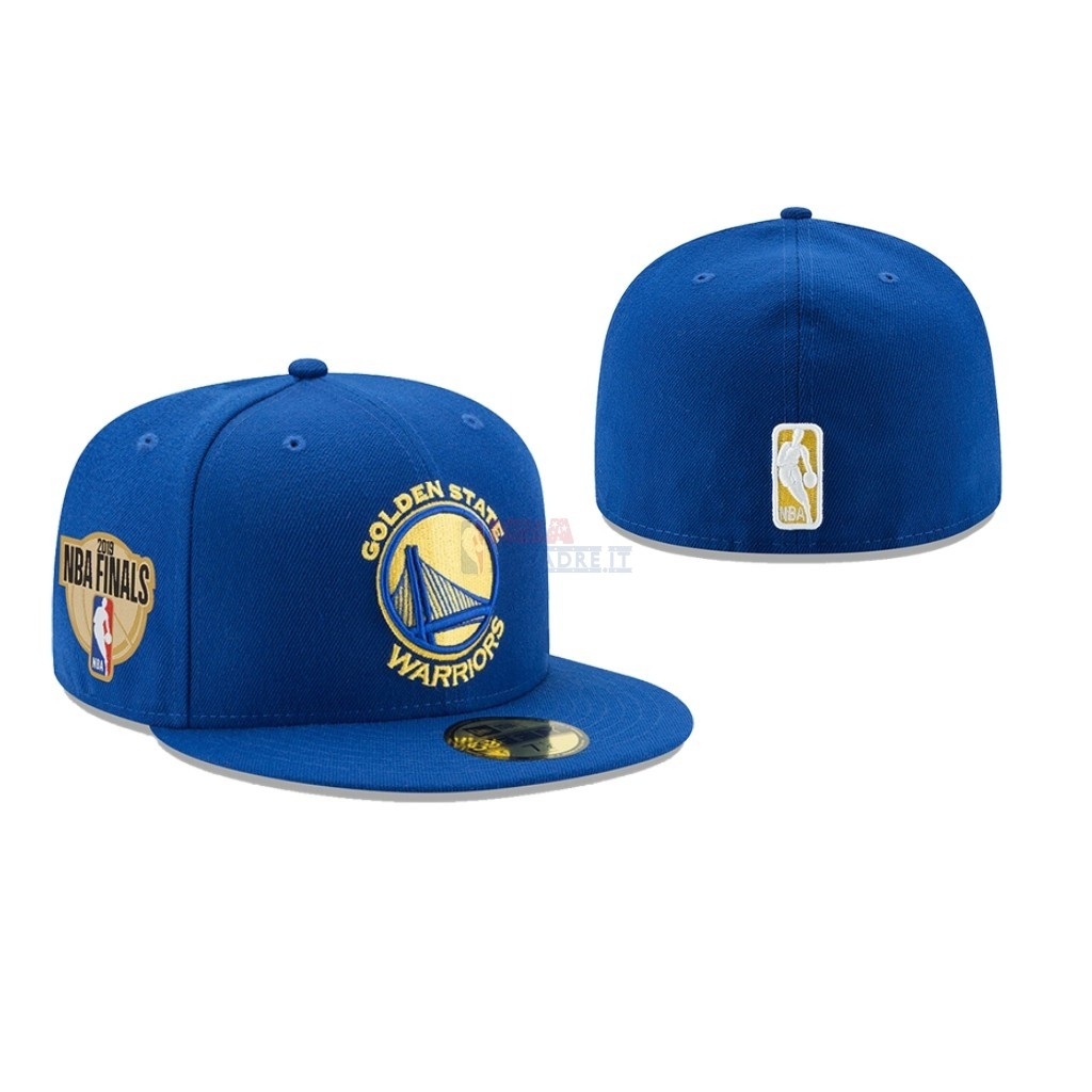 Cappelli 2019 NBA Finals Golden State Warriors Blu 02 Di Buona Qualità