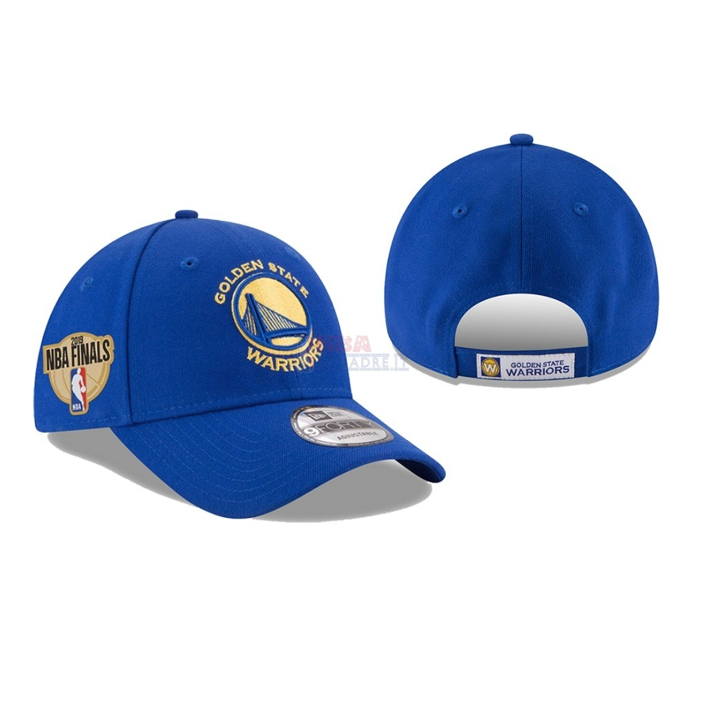 Cappelli 2019 NBA Finals Golden State Warriors Blu 03 Di Buona Qualità