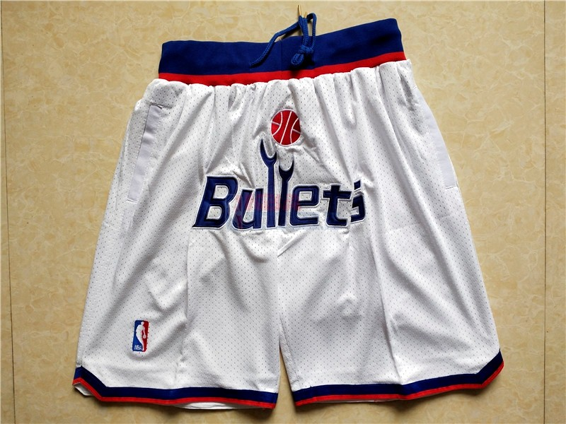 Pantaloni Basket Washington Wizards Bianco Di Buona Qualità