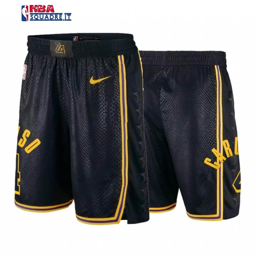 Pantaloni Basket Los Angeles Lakers #4 Alex Caruso Black Mamba Di Buona Qualità