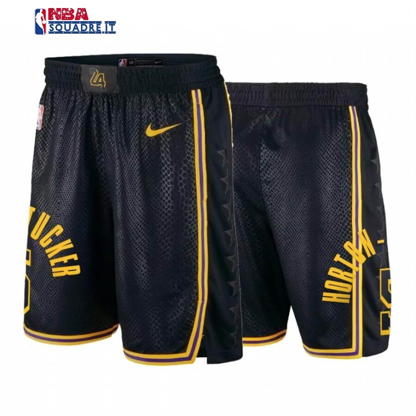 Pantaloni Basket Los Angeles Lakers #5 Talen Horton Tucker Black Mamba Di Buona Qualità