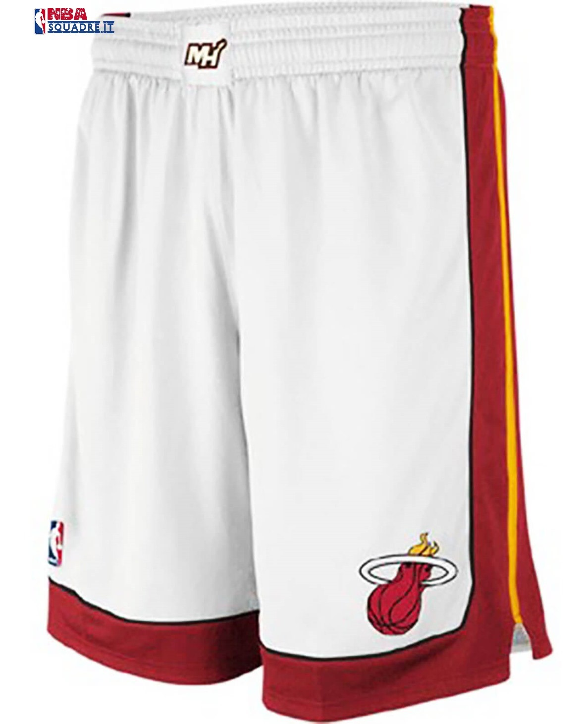Pantaloni Basket Miami Heat Bianco Association Di Buona Qualità