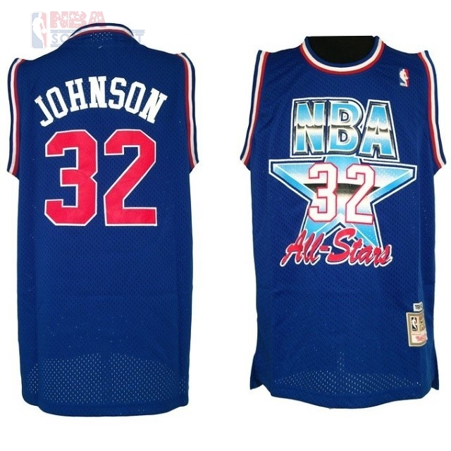 Maglia NBA 1992 All Star #32 Joe Johnson Blu Di Buona Qualità