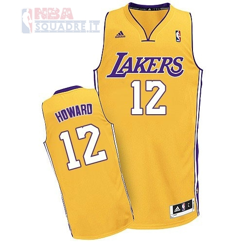 Maglia NBA Los Angeles Lakers #12 Dwight Howard Giallo Di Buona Qualità