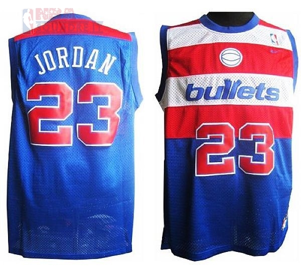 Maglia NBA Washington Wizards #23 Michael Jordan Retro Blu Di Buona Qualità